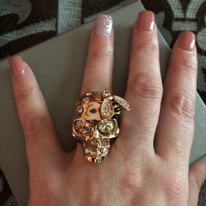 Alexander McQueen bee skull ring 💀 🐝
